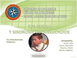 Presentación Tosferina y Sindrome Coqueluchoide