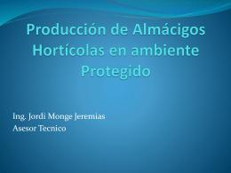 Produccion de lmacigos horticolas en ambiente protegido