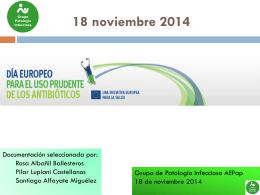 18 noviembre: día Europeo Uso Prudente de Antibióticos