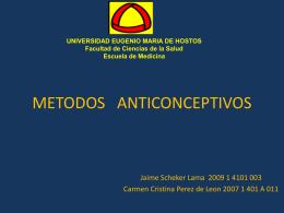 METODOS ANTICONCEPTIVOS INTERNADO LAS