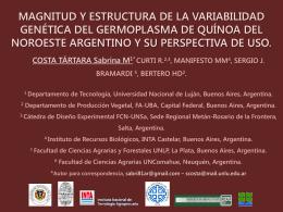 Costa Tàrtara - Sociedad Argentina de Genética