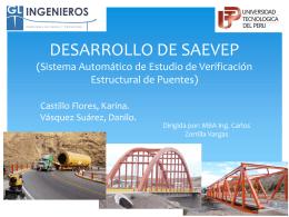 DESARROLLO DE SAEVEP (Sistema Automático de Estudio