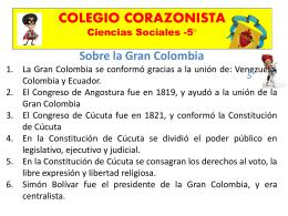 5° Sobre la República de la Nueva Granada