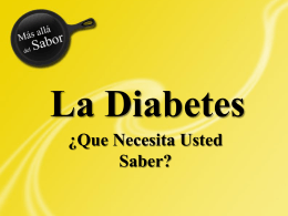 Diabetes - Beyond Sabor