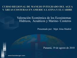 Eval Socioecon del Recurso Hídrico y Costas-Irina Madrid