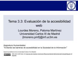 Tema 3.3: Evaluación de la accesibilidad web - Inicio