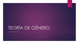 TEORÍA DE GÉNERO - Colegio Monte de Asís