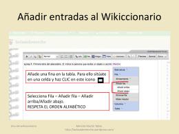 Añadir entradas al Wikiccionario