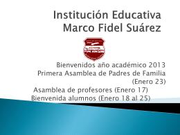 Institución Educativa Marco Fidel Suárez - INICIO