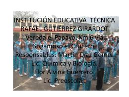 INSTITUCIÓN EDUCATIVA TÉCNICA RAFAEL