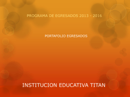 INSTITUCION EDUCATIVA TITAN