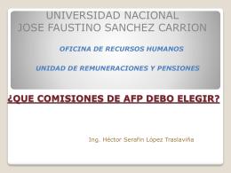 Diapositiva 1 - Universidad Nacional José Faustino Sánchez Carrión