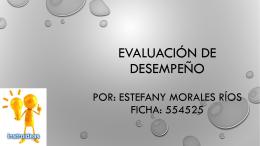 EVALUCIÓN DE DESEMPEÑO diapositivas