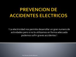Porque ocurren los accidente eléctricos?