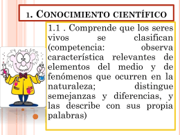 conocimiento cientifico (apartado numero 1estandares de ciencias)