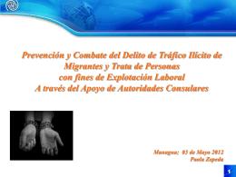 Protección Consular: TdP Laboral y Tráfico Ilícito de Migrantes