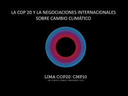 Qué se negociará en Lima?