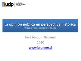 Origen moderno de la opinión pública
