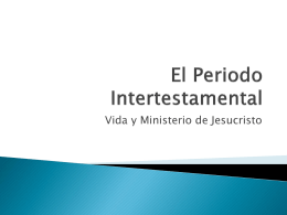El Periodo Intertestamental