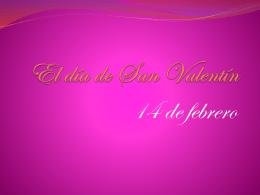 El día de San Valentín - Ms. Madeline Albrittain