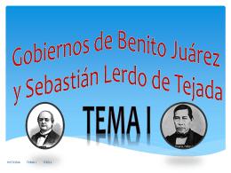 Gobiernos de Benito Juárez y Sebastián Lerdo de Tejada