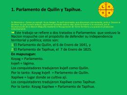 1. Parlamento de Quilin y Tapihue