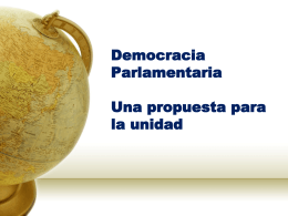 Para bajar en Power Point - Democracia Parlamentaria