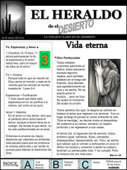 EL HERALDO - Ministerio Voz Que Clama, Inc.