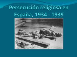 Persecución religiosa en España, 1934 - 1939