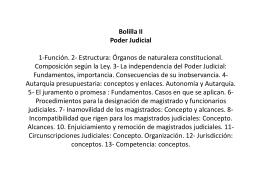 Bolilla II Poder Judicial Función. 2- Estructura