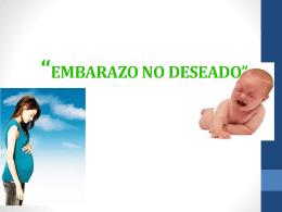 EMBARAZO NO DESEADO