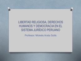 libertad religiosa, derechos humanos y democracia en el sistema