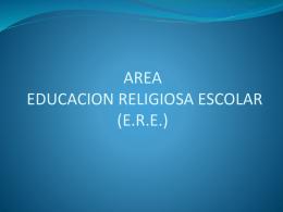 AREA EDUCACION RELIGIOSA (presentacion)