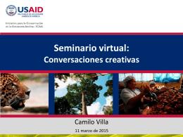 Seminario virtual: Conversaciones Creativas