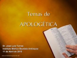 Apologéticas 2015 - Iglesia Bíblica Bautista Antioquía