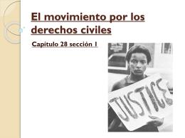 El movimiento por los derechos civiles Capítulo 28 sección 1