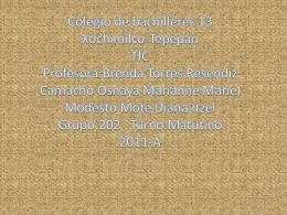Colegio de Bachilleres Plantel 13 *Xochimilco