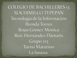COLEGIO DE BACHILLERES 13 XOCHIMILCO TEPEPAN