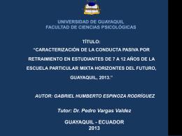 Tesis Conducta pasiva por retraimiento Gabriel Espinoza