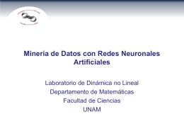 Míneria de Datos con Redes Neuronales Artificiales