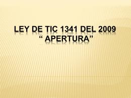 Ley de TIC 1341 de 2009