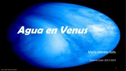 Agua en Venus