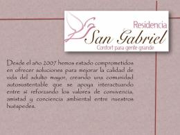 Ver Informe - Residencia San Gabriel