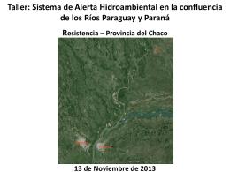 Taller: Sistema de Alerta Hidroambiental en la confluencia de