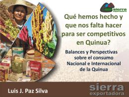 Acciones pendientes sobre la Quinua