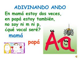 ADIVINANDO ANDO