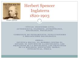Presentación Herbert Spencer