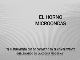 EL MICROONDAS - UVirtual
