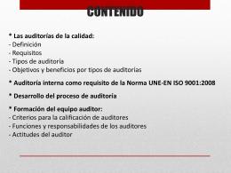 CONTENIDO AUDITORES ISO 19011