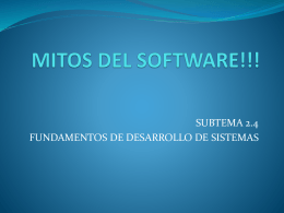 MITOS DEL SOFTWARE!!! - educa